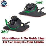 Auto Wayfeng WF® HD CCD visione notturna 360 gradi auto vista posteriore/anteriore telecamera retromarcia telecamera 2 LED