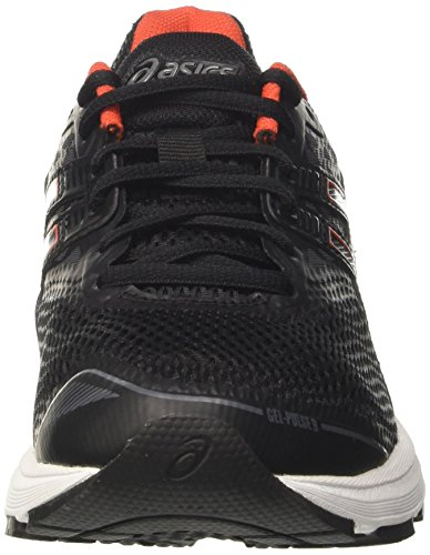 Asics Gel-Pulse 9, Scarpe Running Uomo Nero (Black / Cherry Tomato / Carbon)