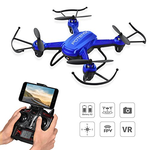Potensic RC Drone Quadcopter Profesional de 6 Ejes Wifi FPV 2.4GHz LED...