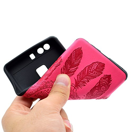 inShang Hülle für Huawei P9 ,Ascend P9 case Ultra Schlank und leicht TPU Bequem Schutzhülle Rückcover (Back Case) design für Handy Huawei P9, Rose chimes