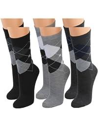 12 | 24 | 36 oder 48 Paar Topmodische Socken im Karostyle für Damen schwarz/weiß/grau - Qualität von Lavazio®