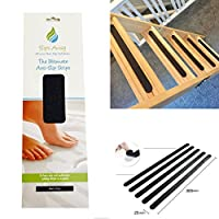 Non Slip Loft Ladder Anti Skid Black Adhesive Strong Textured Safety Treads - Perfect for Loft Attic Wooden Foldable Ladders - Slips Away®