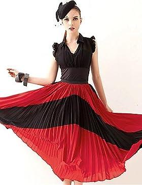 ZLL faldas de múltiples colores, la vendimia / playa / casual / partido / midi trabajo de juana gatito de las...