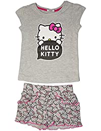 Hello Kitty Official Girls T-Shirt & Short Set Age 3/8 Years