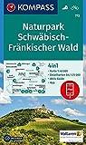 KOMPASS Wanderkarte Naturpark Schwäbisch-Fränkischer Wald: 4in1 Wanderkarte 1:40000 mit Aktiv Guide und Detailkarten inklusive Karte zur offline ... Fahrradfahren.: Wandelkaart 1:50 000 -