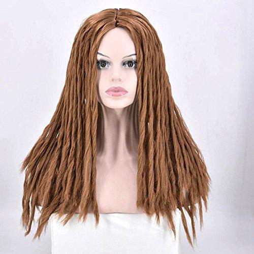 (Full Dreadlocks schwarz Frauen Haar Perücke lang lockig Rollen Twist Zöpfe Kunsthaar Perücken für Afrikanische American Frauen)