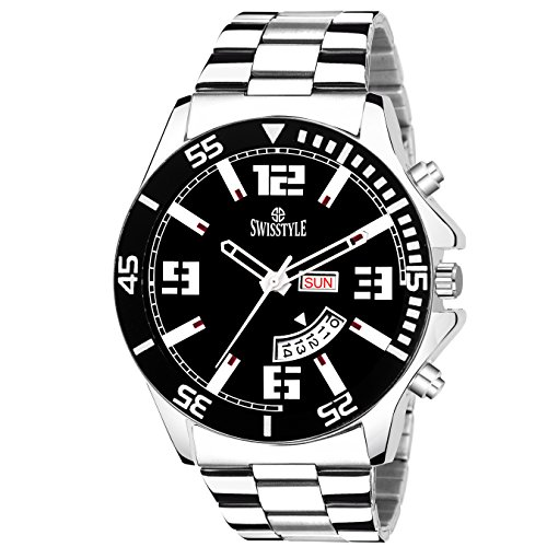 Swisstyle Black Dial Day and Date Display Analog Watch -SS-GR799-BLK-CH