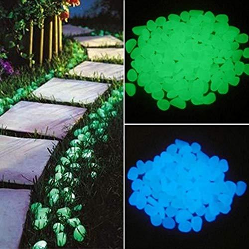 Sanmubo 220Pcs Luminous Stone Dark Pebbles Leuchten in Dark Glow Pebbles Außerhalb Bulk Glow Stones Rocks Dekorative Glow Pebbles für Garden Walkway