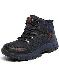 Suetar Calde Scarpe da Trekking da Uomo Scarpe da Ginnastica Outdoor in Pelle Scamosciata Autunno e Inverno Scarpe da Escursionismo Antiscivolo…