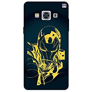 Black & Yellow Man Design - Mobile Back Case Cover For Samsung Galaxy J3 Pro