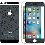 Relax&Shop 3D Diamond Mirror Front + Back Tempered Glass Screen Protector For Iphone 4S - Black