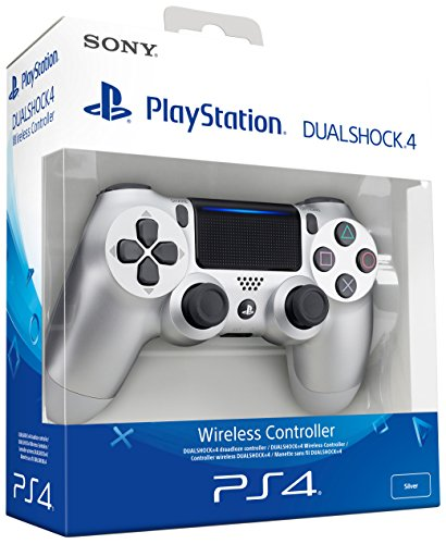 Sony -  Dualshock 4 V2 Mando Inalámbrico,  Color Plateado (PS4)