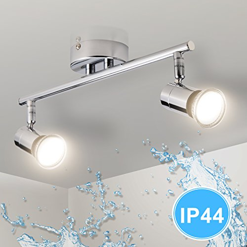 Gr4tec Lámpara de techo Luz de Baño LED con Focos Giratorios IP44...