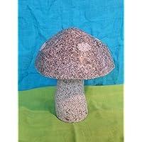 Naturstein Pilz aus Rosa Granit Gr.S Handarbeit ! Garten Haus Deko Teich Figur Stein