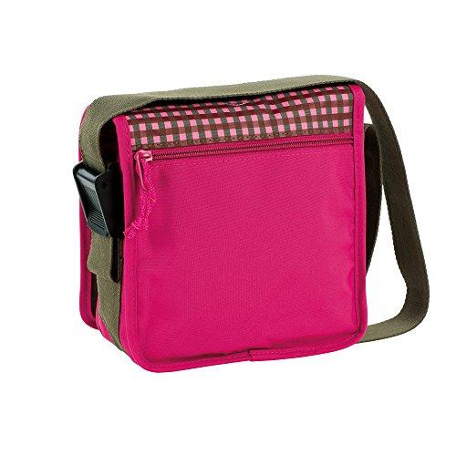 Lässig Mini Messenger Bag Kindergartentasche, Starlight oliv Mushroom Magenta