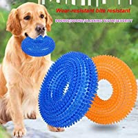 PSK PET MART Chew Spike Ring Toys for Teething with Light and Sound(Best Toys for Your Dogs & Puppies)