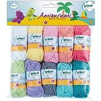 Gründl Amigurumi - Set II  Fil à tricoter Coton Multicolore 19,50 x 18,00 x 2,60 cm