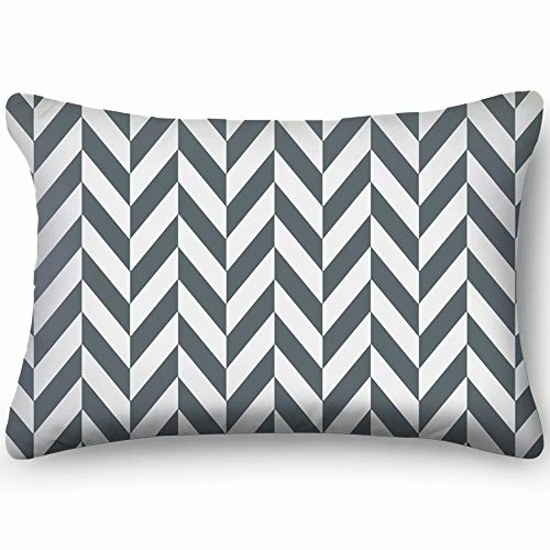 dfgi Herringbone Abstract Black Colors Surface Geometric Skin Cool Super Soft and Luxury Pillow Cases Covers Sofa Bed Throw Pillow Cover with Envelope Closure 20 * 30 inch