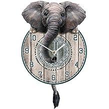 Trunkin  Tickin  Elefante reloj de pared con cola de péndulo 5993aa569481