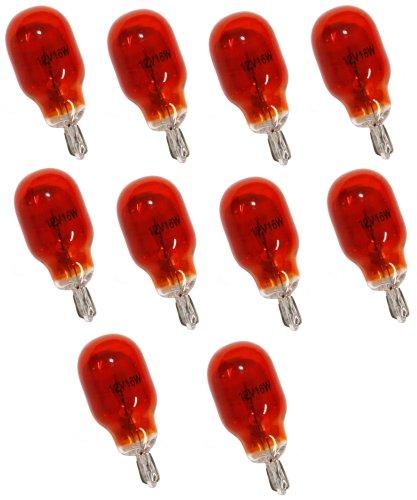 Aerzetix: Lot de 10 Ampoules WY16W T15 12V 16W Ambré Orange - C1728