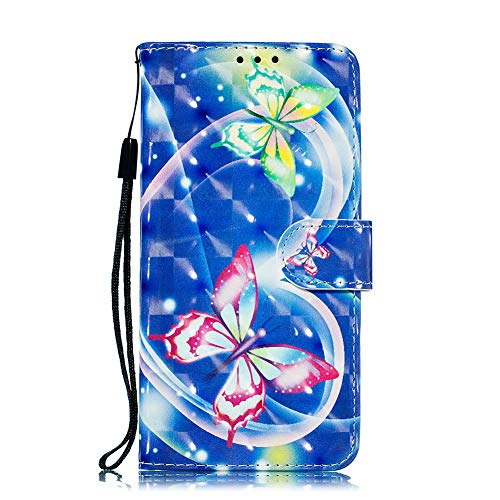 t iPhone 6+ / 6 Plus Hülle,Glitzer 3D Material Bunt Schutzhülle,Flip Stoßfest Lederhülle,Standfunktion Kartenfach Ledertasche Brieftasche,Muster Hüllen Etui Cases Tasche + Lanyard ()