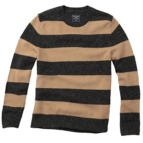 abercrombie-herren-striped-wool-crew-sweater-pullover-grosse-large-camel-stripe-624515475