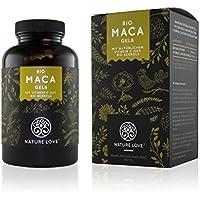 Bio Maca Kapseln - 3000mg Bio Maca gelb je Tagesdosis. 180 Kapseln. Mit natürlichem Vitamin C. Ohne Zusätze wie Magnesiumstearat. Zertifiziert Bio, hochdosiert, vegan, hergestellt in Deutschland