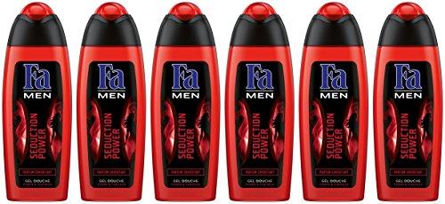 Fa Sedution Power Gel Douche Cheveux/Corps pour Homme 250 ml - Lot de 6