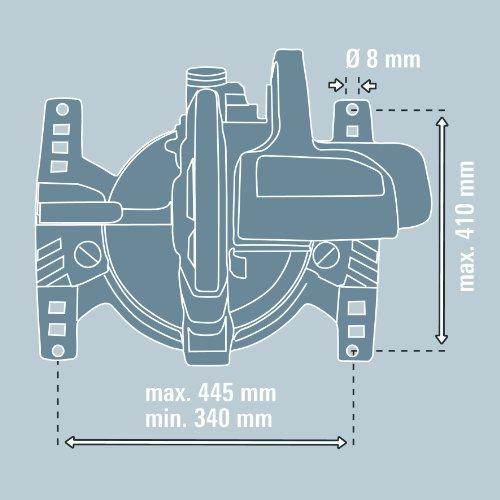 Einhell E-Stand, passend für Einhell Home, Einhell Classic und Einhell Expert Kappsägen und Zug Kapp Gehrungssägen (Arbeitshöhe 810mm, höhenverstellbar) - 5