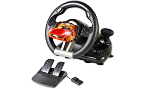 Serafim R1+ Volante de carreras - Volante para juegos con pedal sensible - Compatible con Xbox One, PS4, PS3, Switch, PC, iOS, Android - Volante Xbox One, Volante PS4, Volante PC Gaming