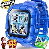 TURNMEON Jeu Enfants Smart Watch pour Enfants Garçons Filles Jouets Montre Poignet avec écran Tactile Appareil Photo Jeux Timer Réveil Podomètre Smartwatch Wristwatch Wristband (03Bleu)