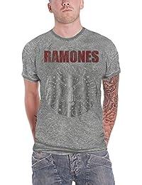 Ramones T Shirt Presidential Seal Hey Ho Logo Oficial de los hombres nuevo Gris