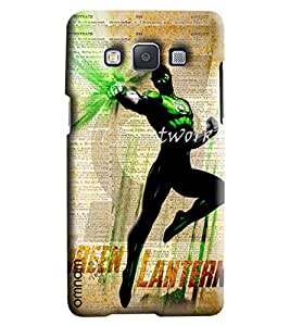 Omnam Boy With Green Lantern Printed Designer Back Cover Case For Samsung Galaxy A5