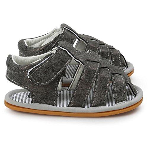 kingko® Baby Boys Sandalen Schuh Casual Schuhe Sneaker Anti Rutsch Soft Sole Kleinkind Dunkelgrau