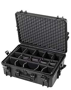 Max MAX505CAMÉtui de transport étanche en plastique rigide norme IP67 avec compartiments rembourrés pour équipement photo