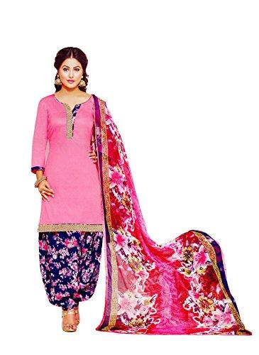 Miraan Cotton Patiyala Dress Material / Chudidar Suit for Women