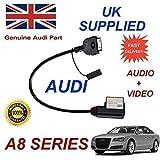 Audi 4F0051510R A8 2010 2011 Elektronagler Serie, 2012, 2013, mit Chip & 2014 Audio Video Kabel (Stecker rot)
