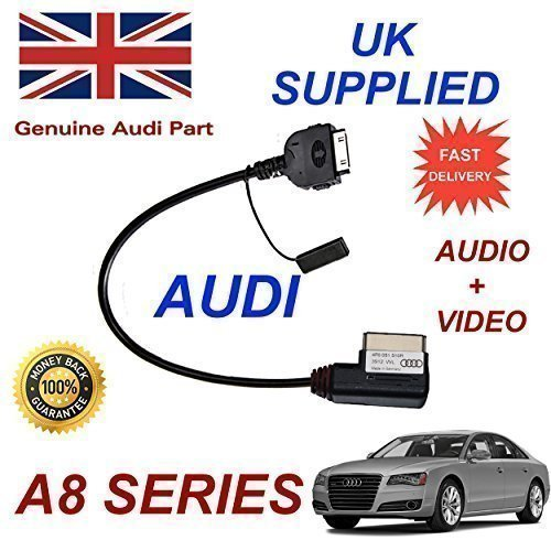 Audi 4F0051510R A8 2010 2011 Elektronagler Serie, 2012, 2013, mit Chip & 2014 Audio Video Kabel (Stecker rot)