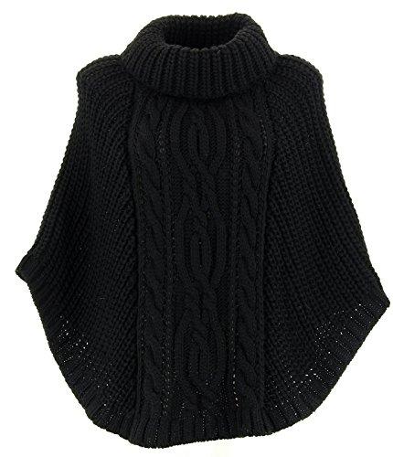 Poncho Negro Para 38 Mujer Charleselie94® wvNn0ym8O