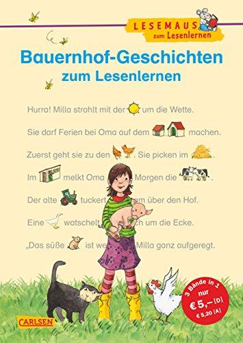 Bauernhof-Geschichten zum Lesenlernen: Bild-Wörter-Geschichten - mit Bildern lesen lernen (LESEMAUS zum Lesenlernen Sammelbände) - Bauernhof-tabelle