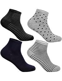 L&K-II Pack de 12 Calcetines para mujer Sneaker Cortos de algodón unisex 92276