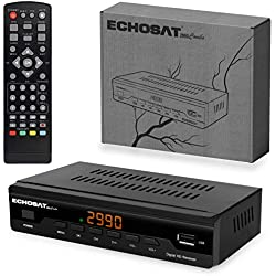 hd-line Récepteur de Câble Combo - Décodeur DVB-T/T2 et DVB-C/C2 Decodeur TNT HD pour TV - Adaptateur TNT HD - Boitier TNT - Tuner TNT - Wifi en Option + Câble HDMI