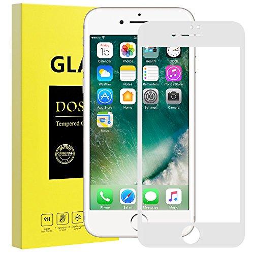 Panzerglas Schutzfolie für iPhone 7 iPhone 8 Full Screen,DOSMUNG Panzerglasfolie für iPhone 7 8-3D Vollständige Abdeckung,Schutz vor Öl,Wasser und Kratzer-Displayschutzfolie für iPhone 7/8(Weiß) (Abdeckung Iphone-bildschirm)