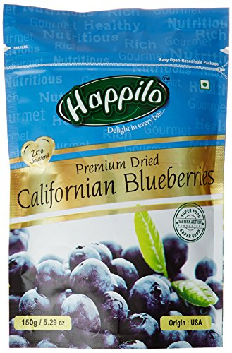 Happilo premium Dried Californian Blueberries, 150g