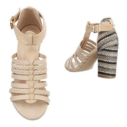 Ital-Design - Scarpe con plateau Donna Beige