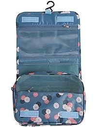 HENGSONG Trousse de Toilette Voyage Folding Portable Organiseur Pochette Sac de Rangement Sac Cosmétique Compartiments Multiples