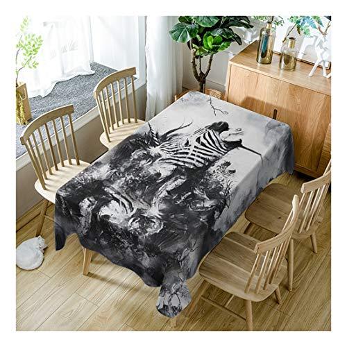 ZHAOXIANGXIANG Home Decor Picknick Drucken Tischdecke Fashion Cool Zebra Streifen Muster Abwaschbare Tischdecke,150Cm×260Cm -