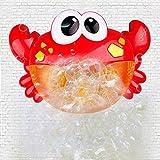 Xinfang Badespielzeug, Krabbenblasen-Maschine mit Musik Automatischer Auslauf Badesprudel für Kinder Dusche mit 12 Musics Baby Fun Dusche Spielzeug