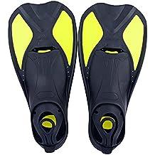 Aletas para natación, aletas Entrenamiento Aletas corta específicamente para migliorare la fuerza de las piernas