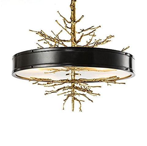 Tous les lustres en verre de branche en bronze français pour des restaurants, chambres à coucher de salon, lumière